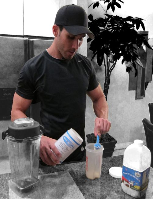 Ryan Yeager drinking protein