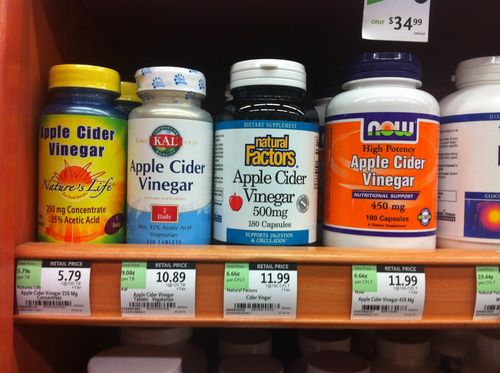 Apple cider vinegar supplements