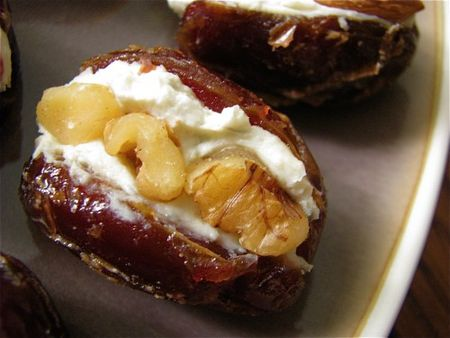 dates, walnuts and cheese